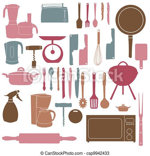 Vecteur cuisine outils illustration cuisine vecteurs for Herramientas para cocina profesional