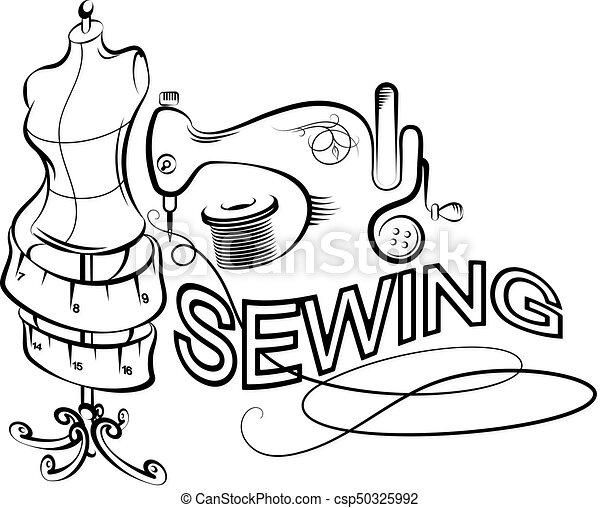 Vecteur d coupage silhouette couture ensemble - Dessin de couture ...