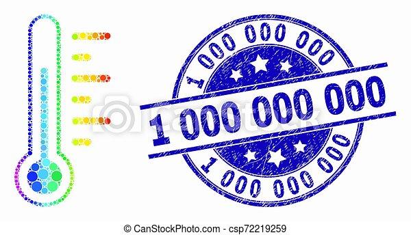 vecteur, détresse, timbre, thermomètre, spectre, 1, 000, cachet, pixel, icône - csp72219259