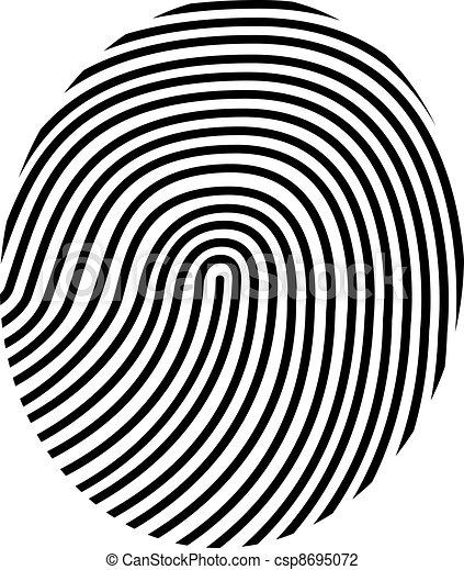 vecteur, dessin, empreinte doigt - csp8695072