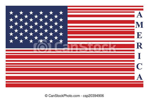 vecteur, drapeau etats-unis, barcode - csp20394906