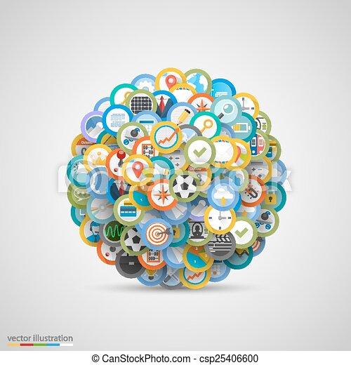 vecteur, ensemble, icons., illustration - csp25406600