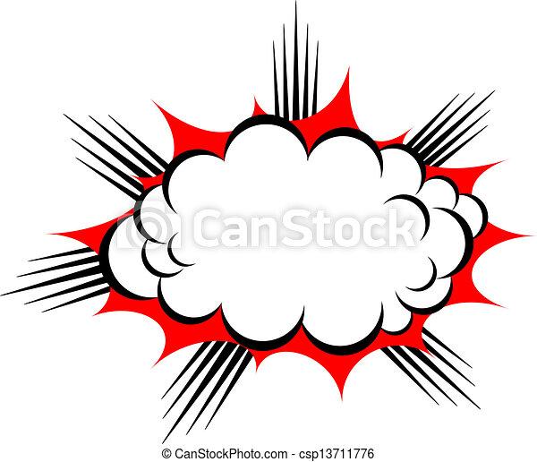 vecteur, explosion, nuage - csp13711776