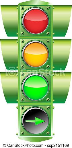 vecteur, feu circulation - csp2151169