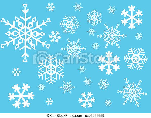 vecteur, -, flocon de neige - csp6985659
