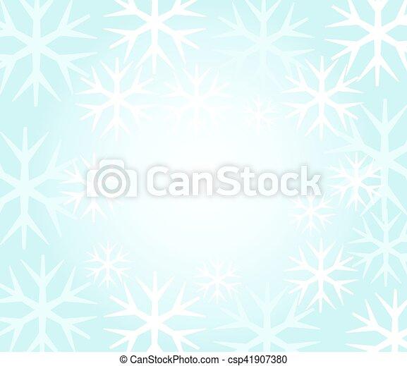 vecteur, flocons neige, fond - csp41907380