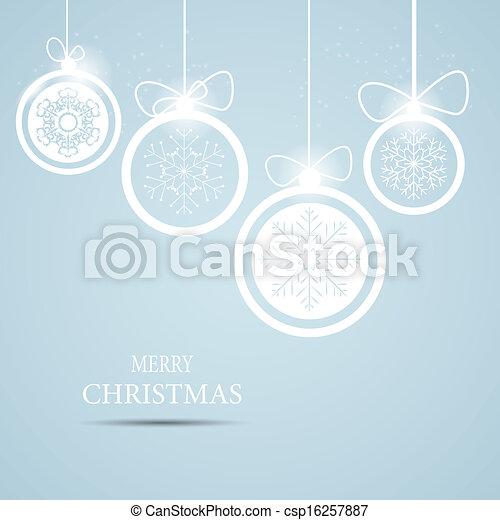 vecteur, fond, noël, illustration, flocons neige - csp16257887
