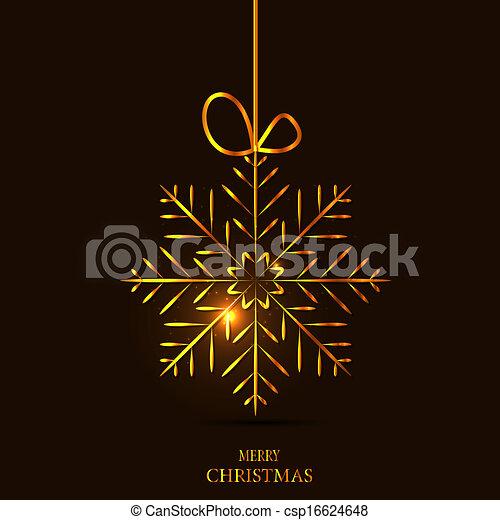 vecteur, fond, noël, illustration, flocons neige - csp16624648