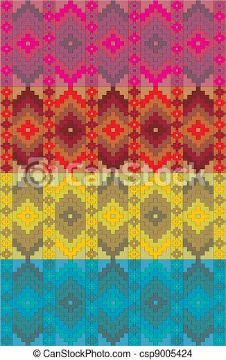 vecteur, frise, mexicain, ethnique - csp9005424