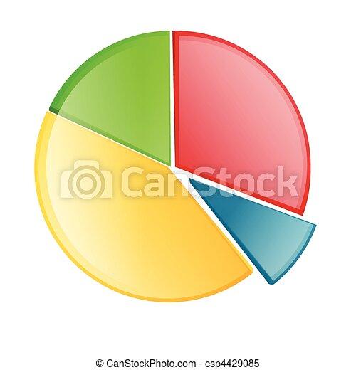 vecteur, graphique circulaire - csp4429085