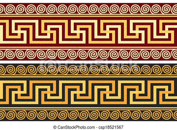 vecteur, grec, frise, ornement - csp18521567