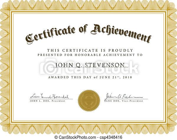 vecteur, guilloche, certificat - csp4348416