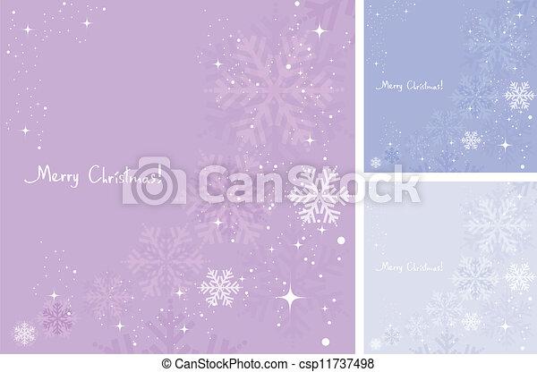 vecteur, hiver, fond, flocons neige - csp11737498