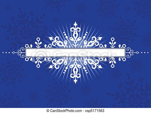 vecteur, hiver, fond - csp5171563