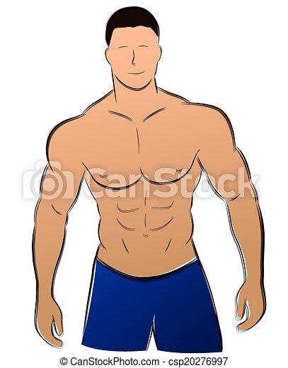 vecteur homme muscle illustration vecteur fond blanc muscle dessin homme. Black Bedroom Furniture Sets. Home Design Ideas