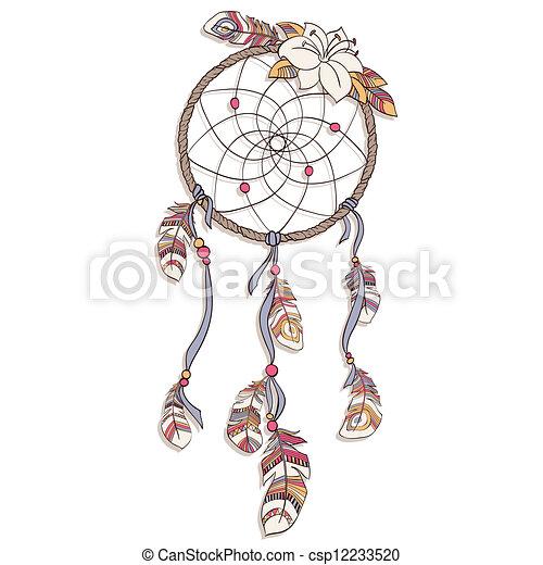 vecteur, illustration, dreamcatcher - csp12233520