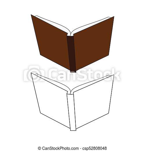 Vecteur Illustration Dur Dos Livre Ouvert Cote Cover