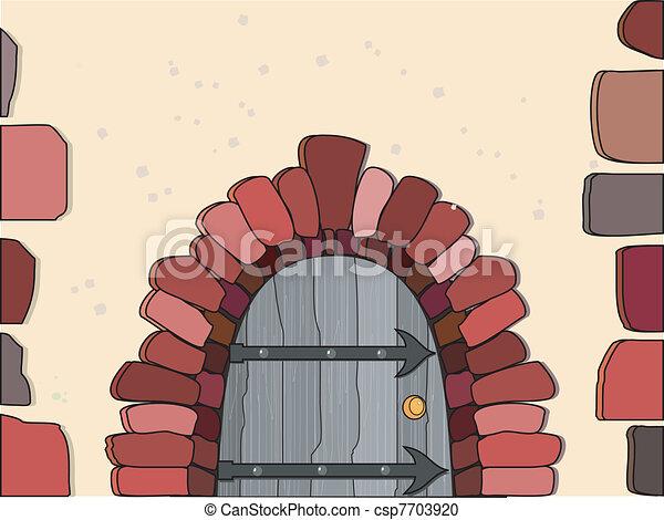 vecteur, illustration, portes - csp7703920