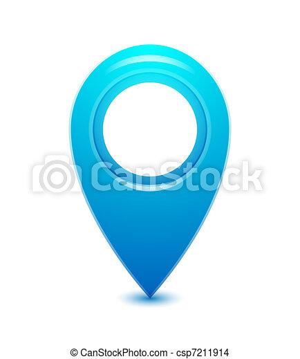 vecteur, indicateur, emplacement, icône - csp7211914