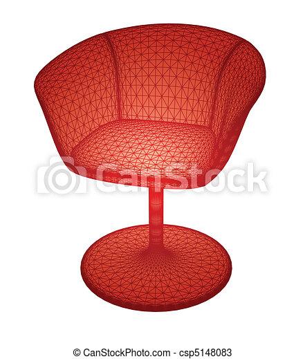 vecteur, isolé, rouges, chair. - csp5148083