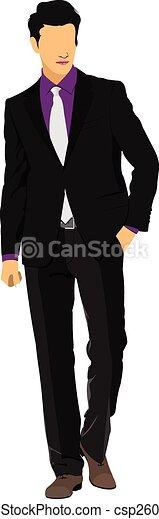 vecteur, jeune, illustration, man. - csp26006362