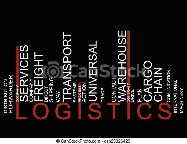 vecteur, logistique, barcode, coloré, texte - csp23326423