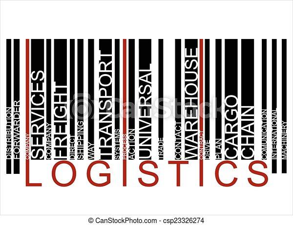 vecteur, logistique, barcode, coloré, texte - csp23326274