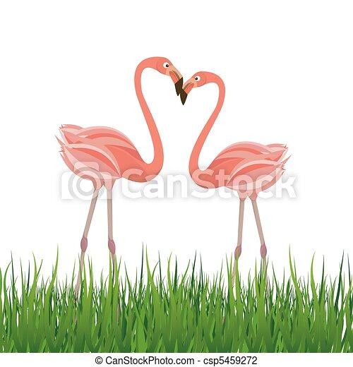 vecteur love flamant rose deux illustration flamant rose love deux illustration vecteur. Black Bedroom Furniture Sets. Home Design Ideas