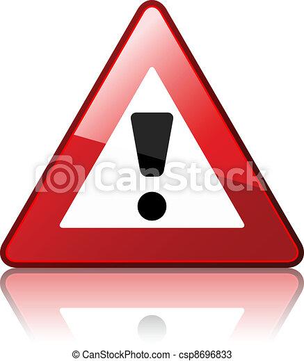 vecteur, panneau avertissement - csp8696833