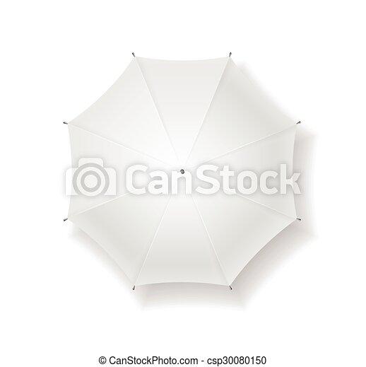 vecteur, parapluie, blank. - csp30080150