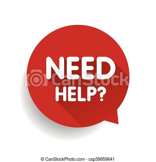 vecteur, parole, (question, besoin, help?, bulle, icon), rouges - csp39959641