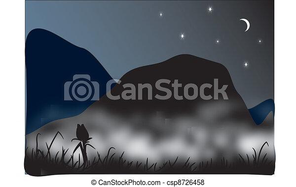 vecteur, paysage - csp8726458