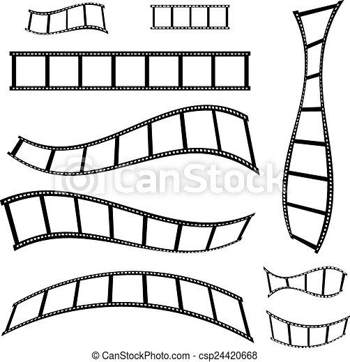 vecteur, pellicule, illustration, bande - csp24420668
