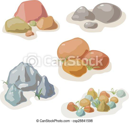 Vecteur pierre ensemble collection rocher pierre ensemble collection vecteur rocher - Rocher dessin ...