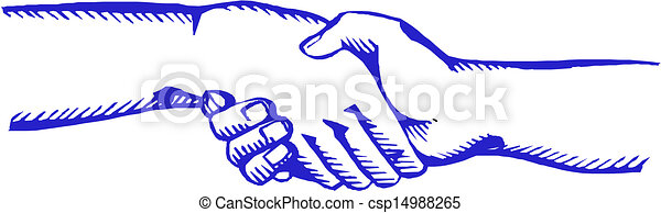vecteur, poignée main, symbole - csp14988265
