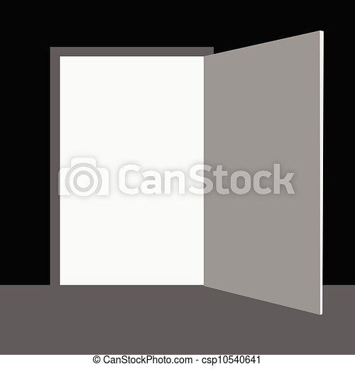 vecteur, porte, illustration - csp10540641