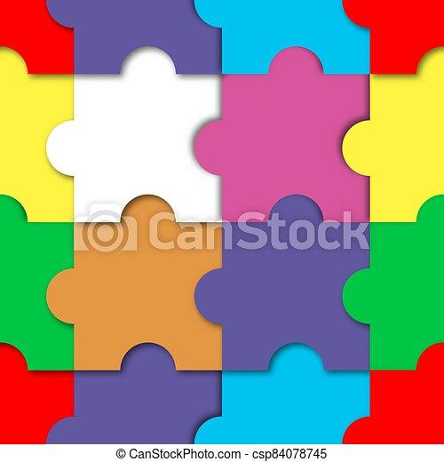 vecteur, puzzle, illustration., seamless, modèle - csp84078745