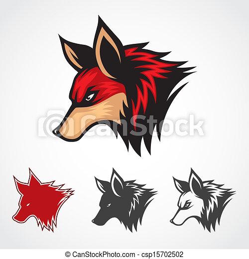 Vecteur renard rouges t te renard symbole rouges template - Clipart renard ...