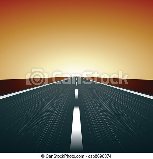 vecteur, route, brouillé - csp8696374