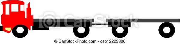 vecteur, semi-camion - csp12223306