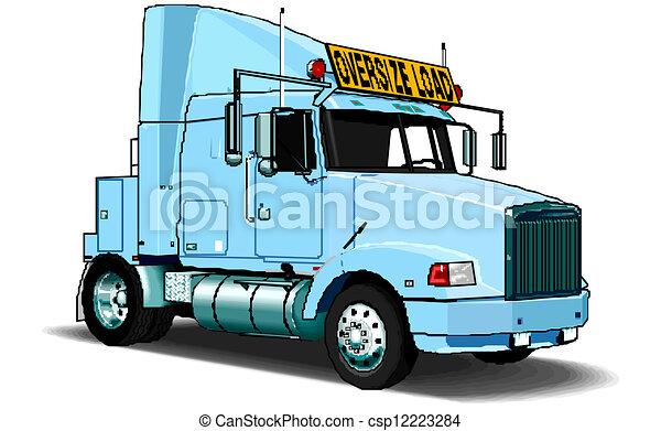 vecteur, semi-camion - csp12223284