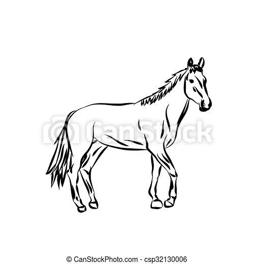 Vecteur silhouette horse dessin anim cheval vecteur image fond blanc - Pony dessin anime ...