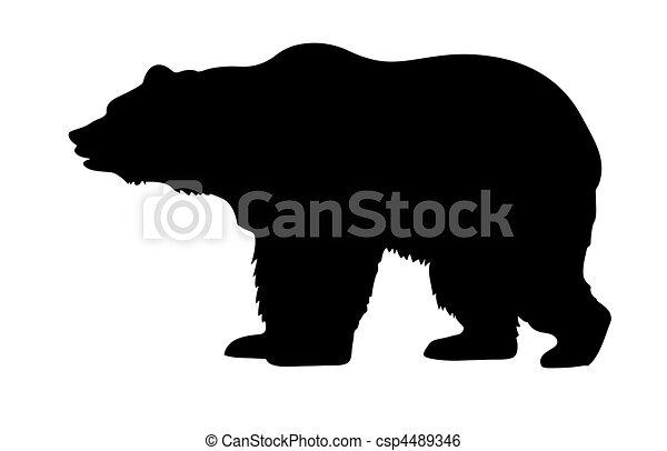 vecteur, silhouette, ours - csp4489346