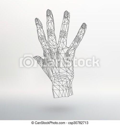 vecteur, style, concept, lattice., fond, résumé, lines., créatif, polygonal, arrière-plan., maille, conception, main, brochure., polygons., grille, moléculaire, en-tête lettre, structural - csp30782713
