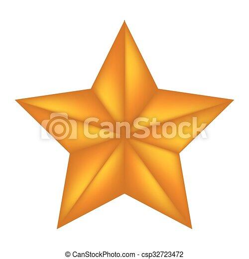 vecteur, symbole, icône, bethlehem, isolé, étoile, noël blanc, illustration, design., arrière-plan. - csp32723472