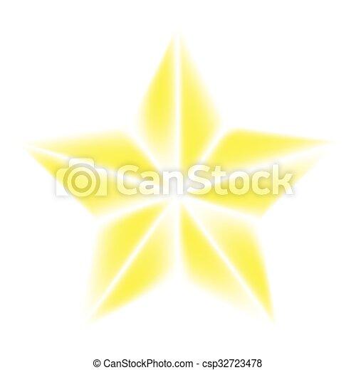 vecteur, symbole, icône, bethlehem, isolé, étoile, noël blanc, illustration, design., arrière-plan. - csp32723478