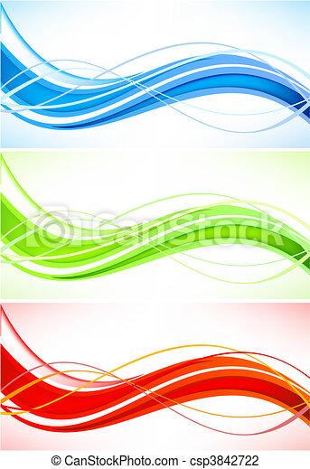 vecto, abstrakt, sæt, baggrunde - csp3842722