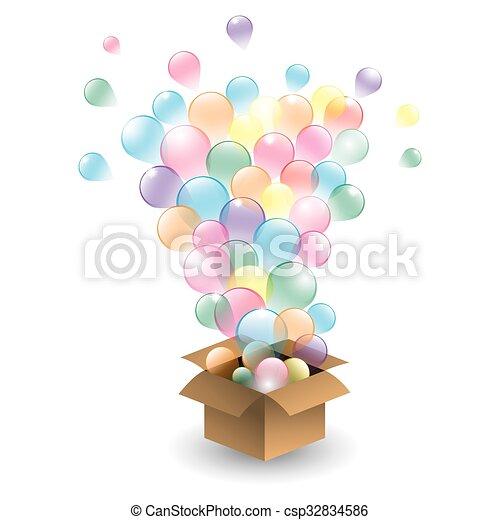 vecto, ensemble, balloons., multicolore - csp32834586