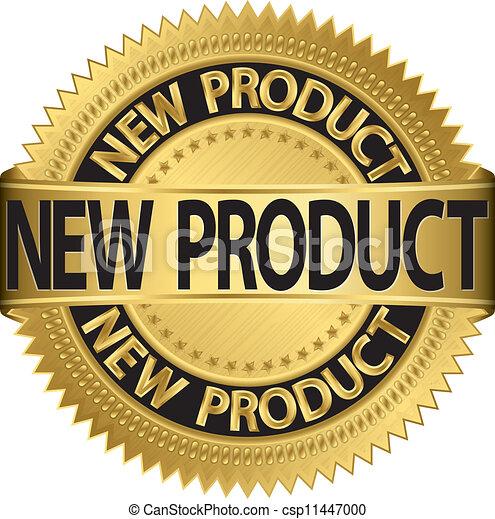 vecto, prodotto nuovo, etichetta, dorato - csp11447000