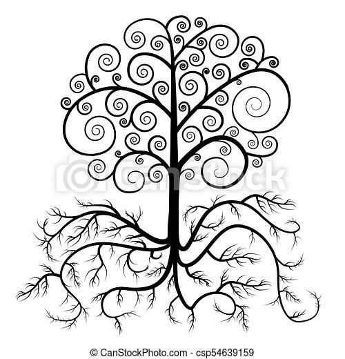Árbol con raíz vector - csp54639159